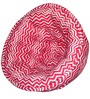 ORGANIC COTTON  Lap Pouffe in Pink & White Colour by Reme