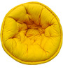 ORGANIC COTTON  Lap Pouffe in Yellow Colour by Reme