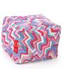 Large Cotton Canvas Geometric Design (Square Shaped) Ottoman Cover Only by Style Homez