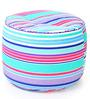 Large Cotton Canvas Striped (Round Shaped) Ottoman Cover Only by Style Homez