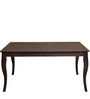 Larissa Six Seater Dining Table in Capuccino Colour by @Home