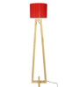 Carina Floor Lamp in Red by CasaCraft