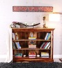 Cromwell Book Shelf cum Display Unit in Natural Sheesham Finish by Amberville