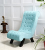 Lawrence Single Seater Sofa in Aqua Blue Color by Amberville