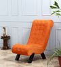 Lawrence Single Seater Sofa in Tangerine Color by Amberville