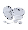 Lazzaro Elegance 47 Pcs Dinner Set - Off White & Silver