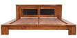 Leopold Solidwood King Bed in Brown Colour by HomeTown