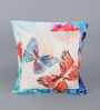 Leaf Designs Blue Poly Duck Butterfly Cushion Cover