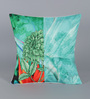Leaf Designs Green & Blue Poly Duck Cushion Cover