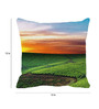 Leaf Designs Green Microfibre 12 x 12 Inch Soothing Greenfields Cushion Cover