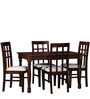 Arundel Four Seater Dining Set in Provincial Teak Finish by Amberville