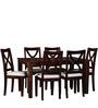 Santa Fe Six Seater Dining Set in Provincial Teak Finish by Woodsworth