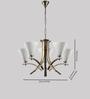 LeArc Designer Lighting CH307 Brass Chandelier