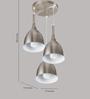 LeArc Designer Lighting HL3776-3 White Pendant
