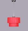 Learc Designer Lighting Red Fabric Mixed Pendant