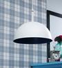 Learc Designer Lighting White & Blue Aluminium Pendant Light