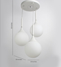 LeArc Designer Lighting White 3 Lights Globe Pendant Light