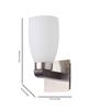 Learc Designer Lighting WL1421 Single Shade Uplighter Wall Mounted Light