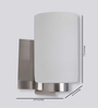 Learc Designer Lighting WL1427 Single Shade Uplighter Wall Mounted Light