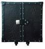 Leather Heritage Black Mini Trunk Bar Cabinet by Studio Ochre
