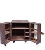 Mini Heritage Leather Bar Cabinet in Brown Croco Finish by Studio Ochre