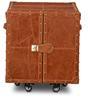 Leather Heritage Tan Brown Mini Trunk Bar Cabinet by Studio Ochre