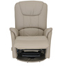 Leisure Man Recliner Chair in Off-White Genuine Leather by Royal Oak