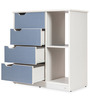 Lento Chest of Drawers in Blue & White Colour by Durian