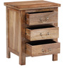 Prescott Bed Side Table in Natural Finish by Woodsworth