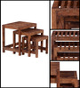 Oakland Set of Tables in Provincial Teak Finish by Woodsworth
