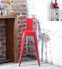 Raglan Bar Chair in Red Colour by Bohemiana