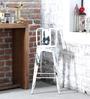 Raglan Bar Chair in White Colour by Bohemiana