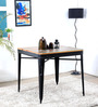 Locarno Four Seater Dining Table in Black Color by Bohemiana