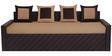 Libford Sofa Cum Bed with Four Pillows in Brown Colour by Auspicious