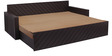 Libford Sofa Cum Bed with 2 Pillows & 5 Bolsters in Brown Color by Auspicious