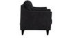 Liliana Three Seater Sofa in Charcoal Grey Colour by CasaCraft