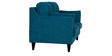 Liliana Two Seater Sofa in Peacock Blue Colour by CasaCraft
