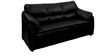 Lily Sofa Set (3 + 1 + 1) Seater in Black Colour Premium Leatherette by Comfort Couch