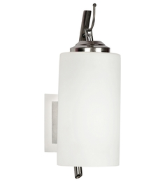 Lime Light White Glass And Wood Wall Mounted Light - 1498199
