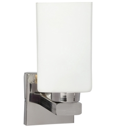 Lime Light White Glass And Wood Wall Mounted Light - 1498165