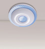 Calgary Ceiling Lamp in White & Blue by CasaCraft