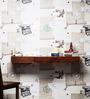 Winlock Wall Shelf Cum Study Table in Honey Oak Finish by Woodsworth