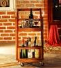 Mosby Bar Trolley in Honey Oak Finish by Woodsworth