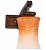 Lime Light Orange & White Glass & Wood Wall Lamp