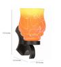 Lime Light Yellow & Orange Glass & Wood Wall Lamp