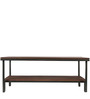 Linea Coffee Table in Dark Walnut Colour with Sand Blasted Shelf by DwellDuo
