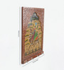 Little India Brown Wooden Hand Carved Dhola Maru Painted 4 Key Stand