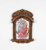 Little India Brown Wooden Rajasthani Designer Radha-Krishna Jharokha