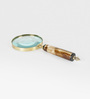 Little India Gold Brass Functional Real Antique Magnifying Glass