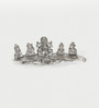 Little India Silver Metal Ganesha on Banana Leaf Pooja Idol